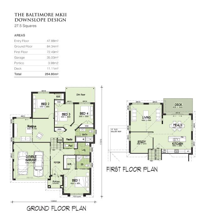 Baltimore MKII Downslope design, Home Design, Tullipan Homes