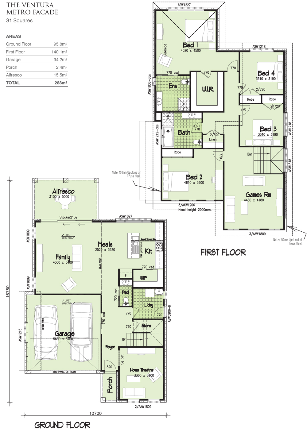 Ventura Double storey 31 Squares, Home Design, Tullipan Homes