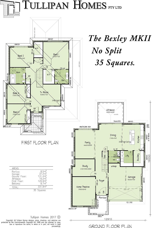 Bexley MKII Double storey - No Split, Home Design, Tullipan Homes