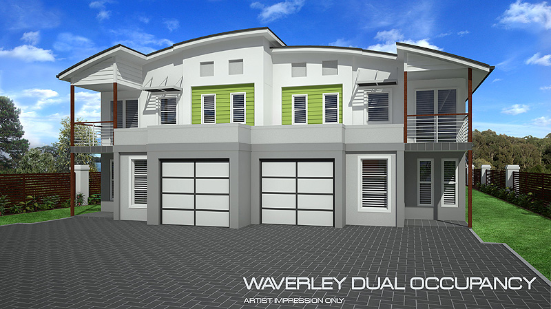 Waverly dual occupancy home design tullipan homes for Dual occupancy home designs
