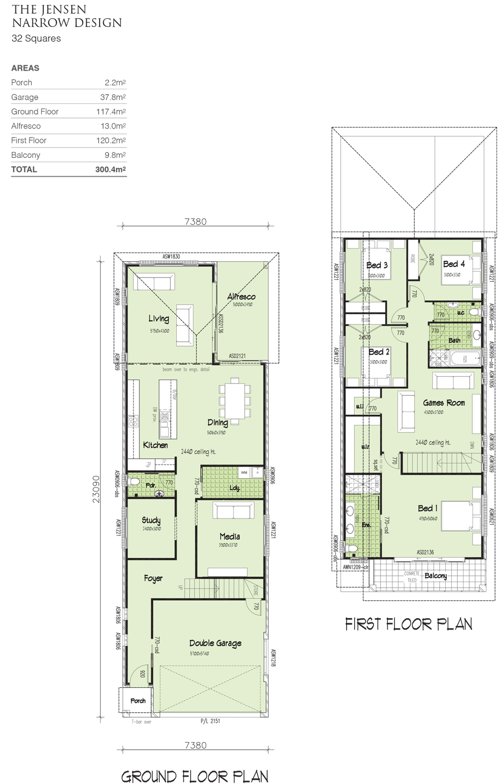 Jensen narrow design, Home Design, Tullipan Homes