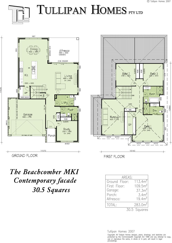 Beachcomber MKI - Hampton facade, Home Design, Tullipan Homes