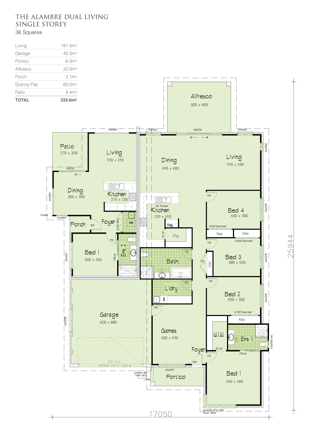Alambre Dual Living, Home Design, Tullipan Homes