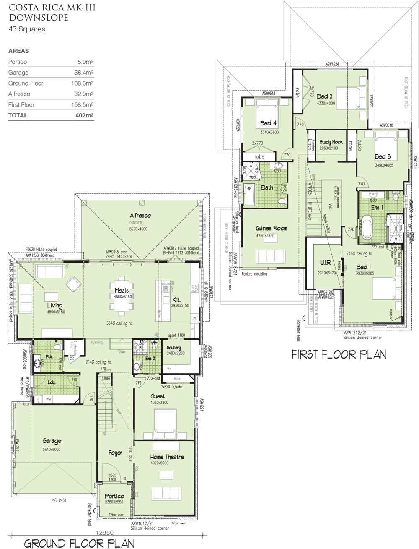 Costa Rica MKIII - Downslope, Home Design, Tullipan Homes