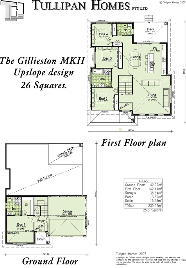 Gillieston MKII Upslope design , Home Design, Tullipan Homes