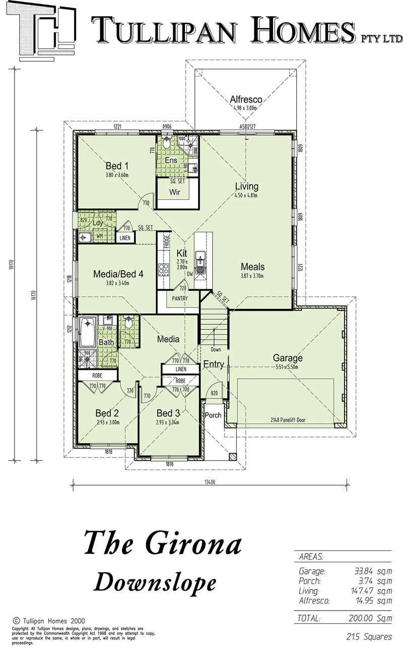 GIRONA Downslope design - with Alfresco Included, Home Design, Tullipan Homes