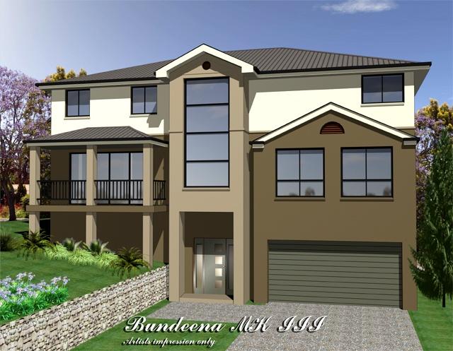 Bundeena mkiii three storey upslope design home design for Up slope house plans