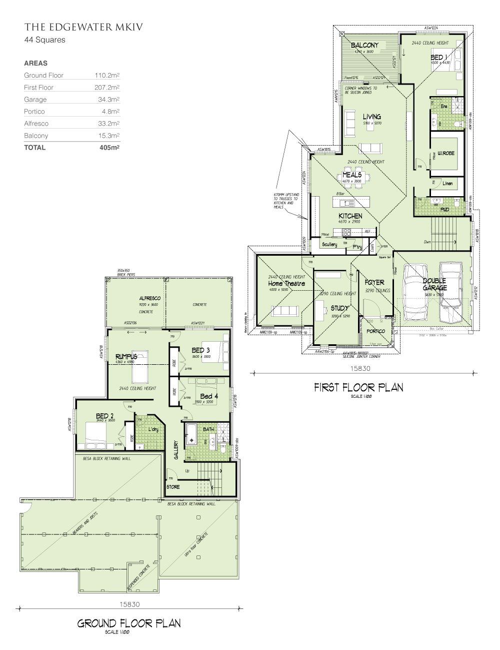 Edgewater MKIV - Downslope design, Home Design, Tullipan Homes