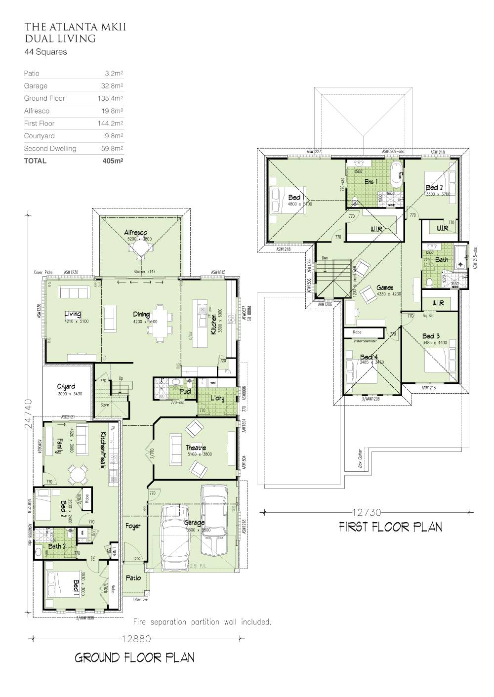 Atlanta MKII Dual Living, Home Design, Tullipan Homes