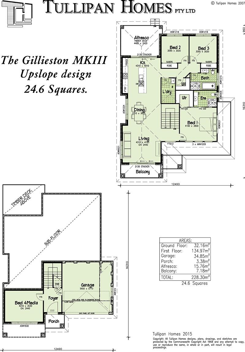Gillieston MKIII - Upslope design, Home Design, Tullipan Homes