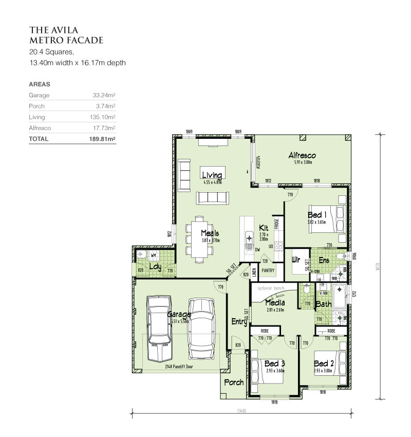 Avila single storey, Home Design, Tullipan Homes