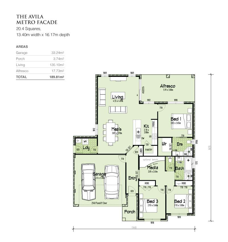 single storey, Home Design, Tullipan Homes