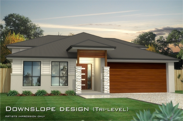 Baltimore mk 1 downslope design tri level home for 3 level homes