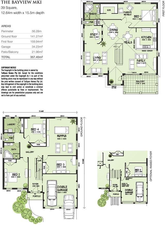 Bayview MKI, Home Design, Tullipan Homes