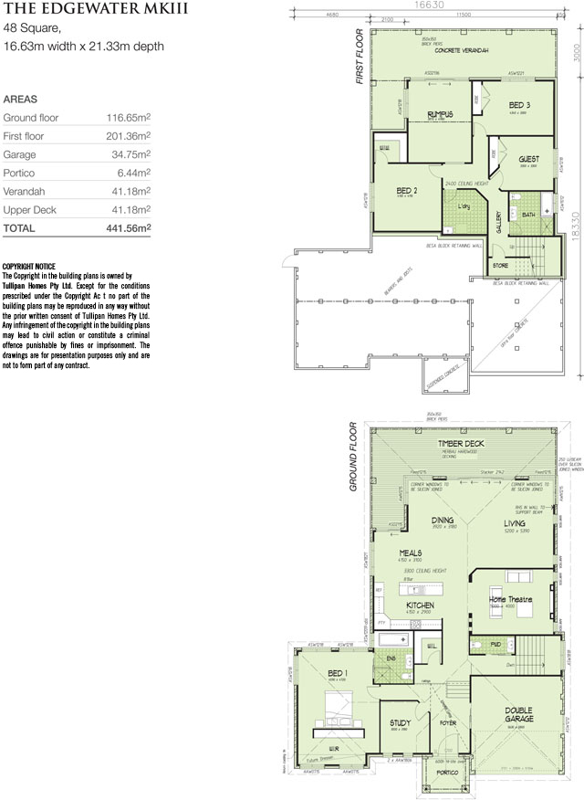 Edgewater MK 3 - Downslope design., Home Design, Tullipan Homes