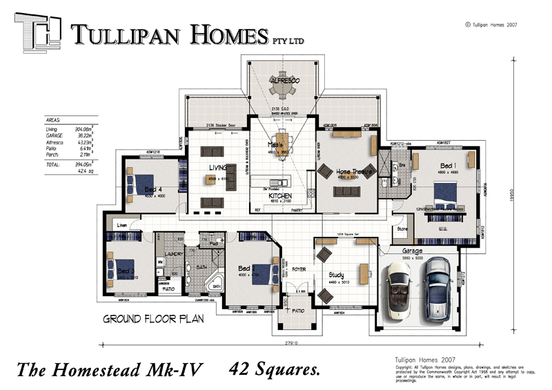 Homestead MKIV, Home Design, Tullipan Homes