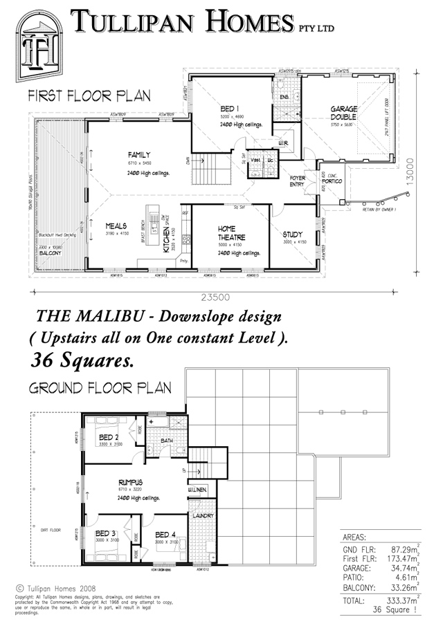 Malibu-MK1-Downslope Design., Home Design, Tullipan Homes