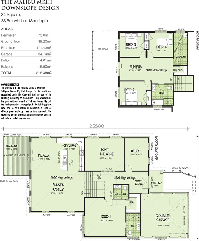 Malibu MKIII - Split level upstairs., Home Design, Tullipan Homes