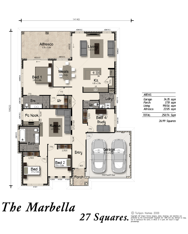 Marbella alfresco included home design tullipan homes - Ambience home design marbella ...