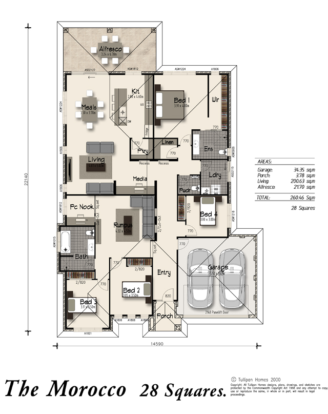 Morocco - Alfresco Included, Home Design, Tullipan Homes