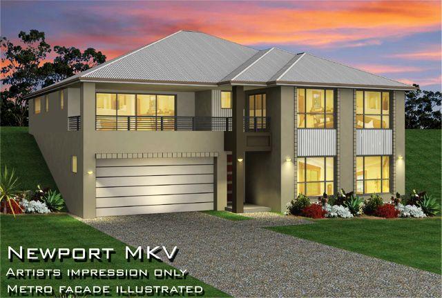 Newport mkvi 13m width home design tullipan homes for Up slope house plans