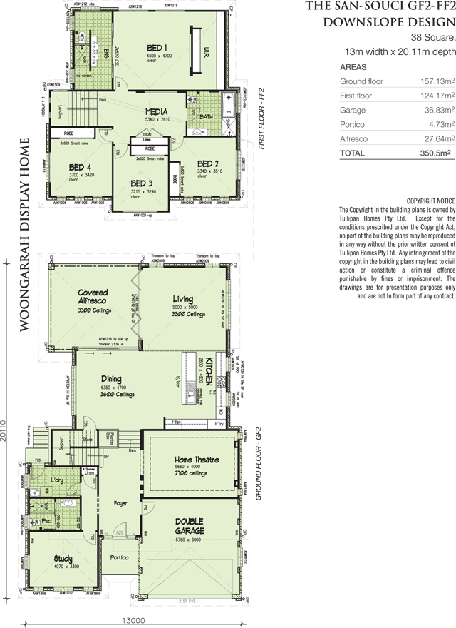 SAN-SOUCI-GF2-FF2- Display- Downslope Design- 38 Square, Home Design, Tullipan Homes