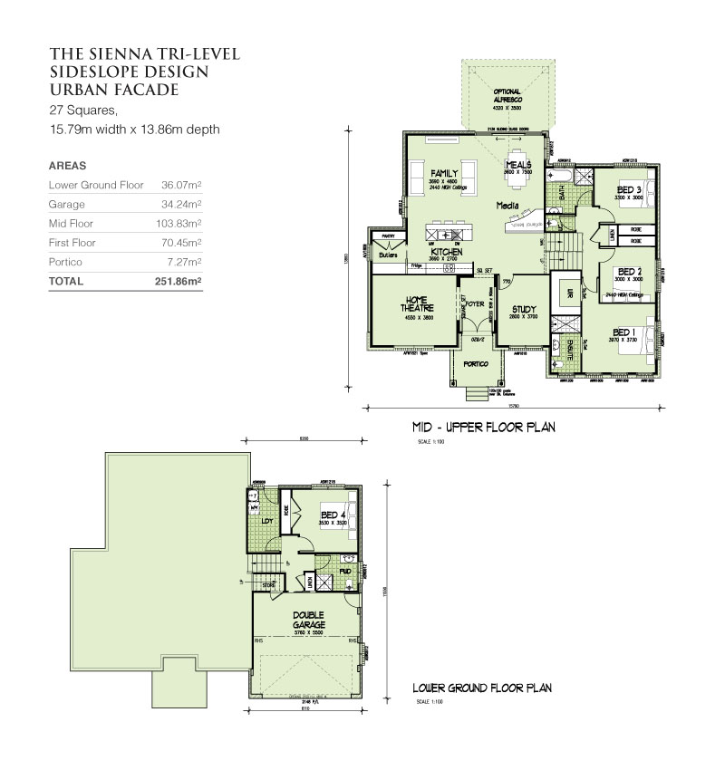 Sienna Tri-Level Sideslope design 27 Squares, Home Design, Tullipan Homes