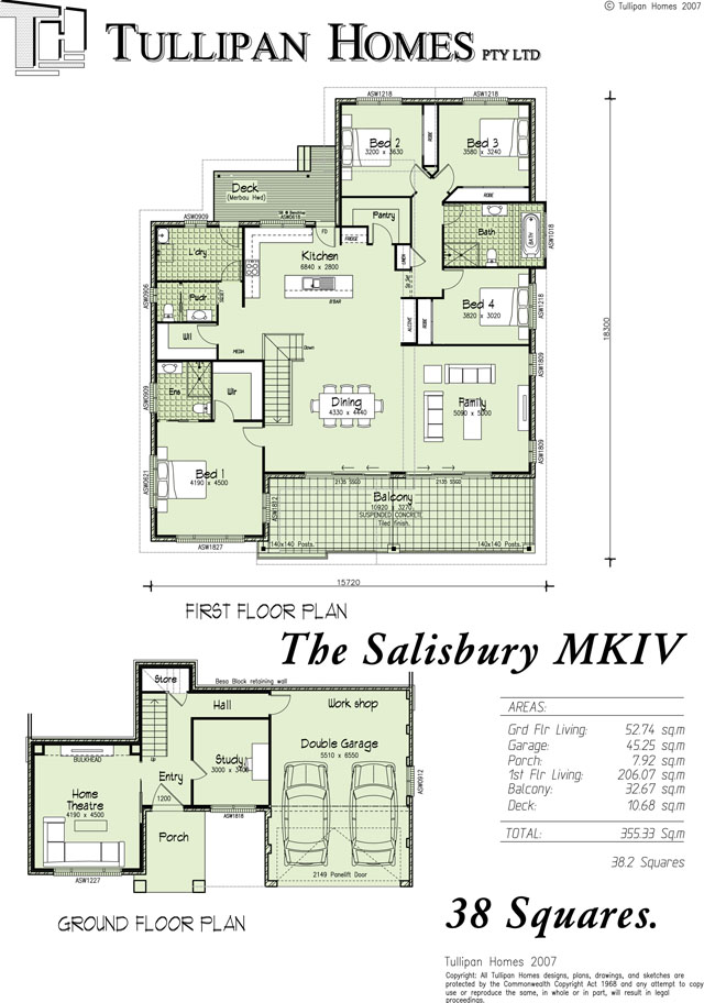Salisbury mkiv upslope design 38 squares home design Floor plans for sloping blocks