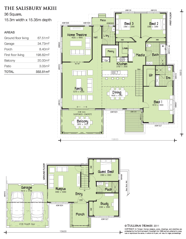 Salisbury mkiii home design tullipan homes for Up slope house plans