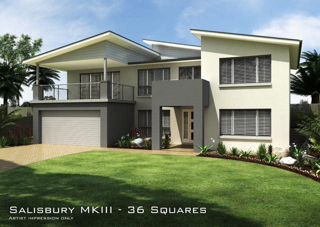 Salisbury mkiii skillion roof home design tullipan homes for Skillion roof house designs