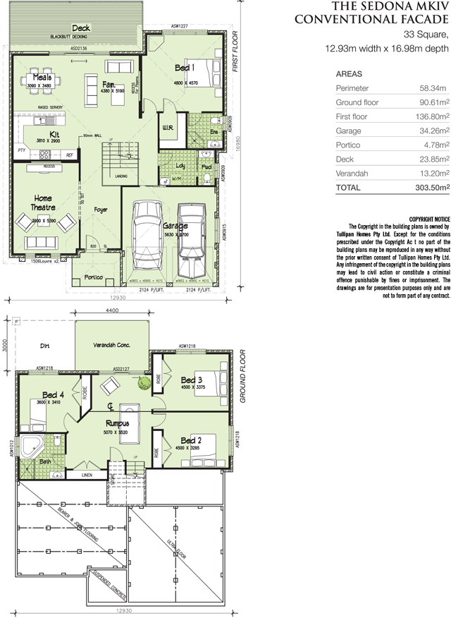 House floor plans for sloping blocks house and home design Floor plans for sloping blocks