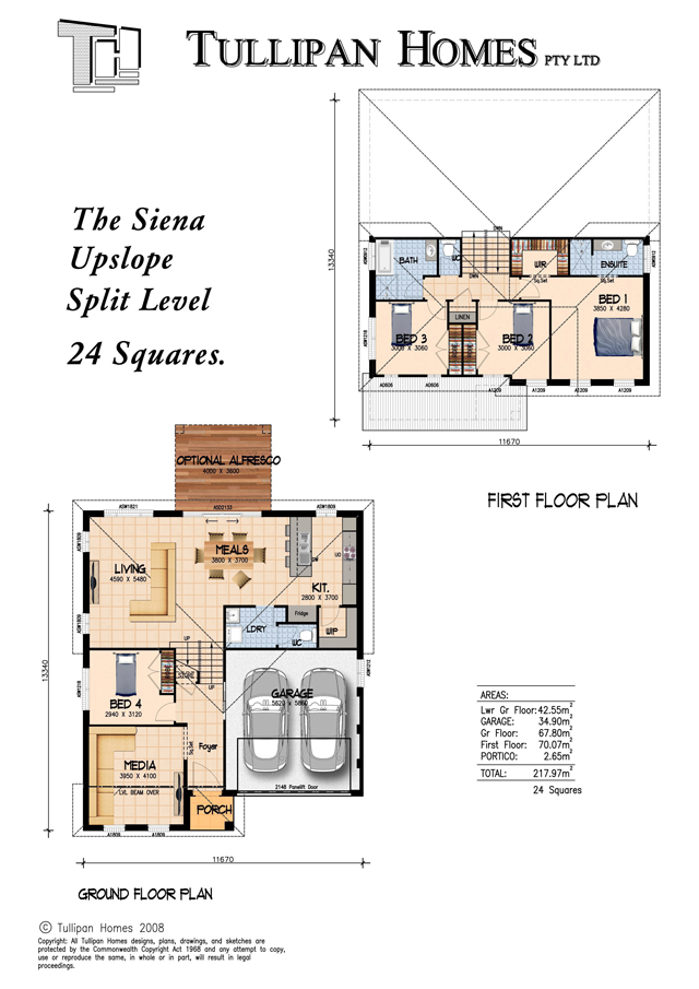 Siena Upslope Split Level Home, Home Design, Tullipan Homes