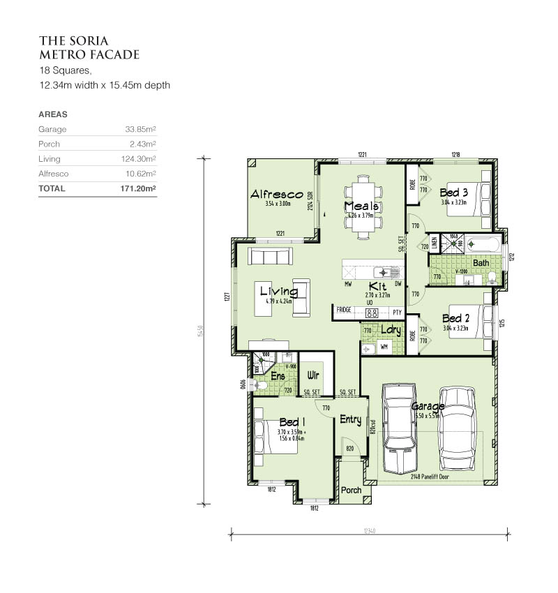 Soria single storey home design tullipan homes for Affordable quality homes house plans