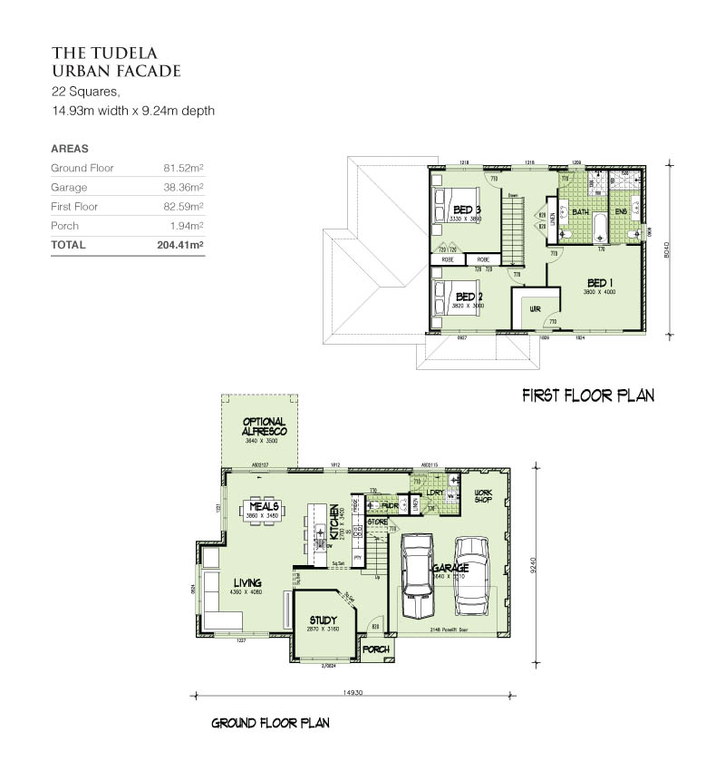 Tudela Double Storey 22 Squares, Home Design, Tullipan Homes