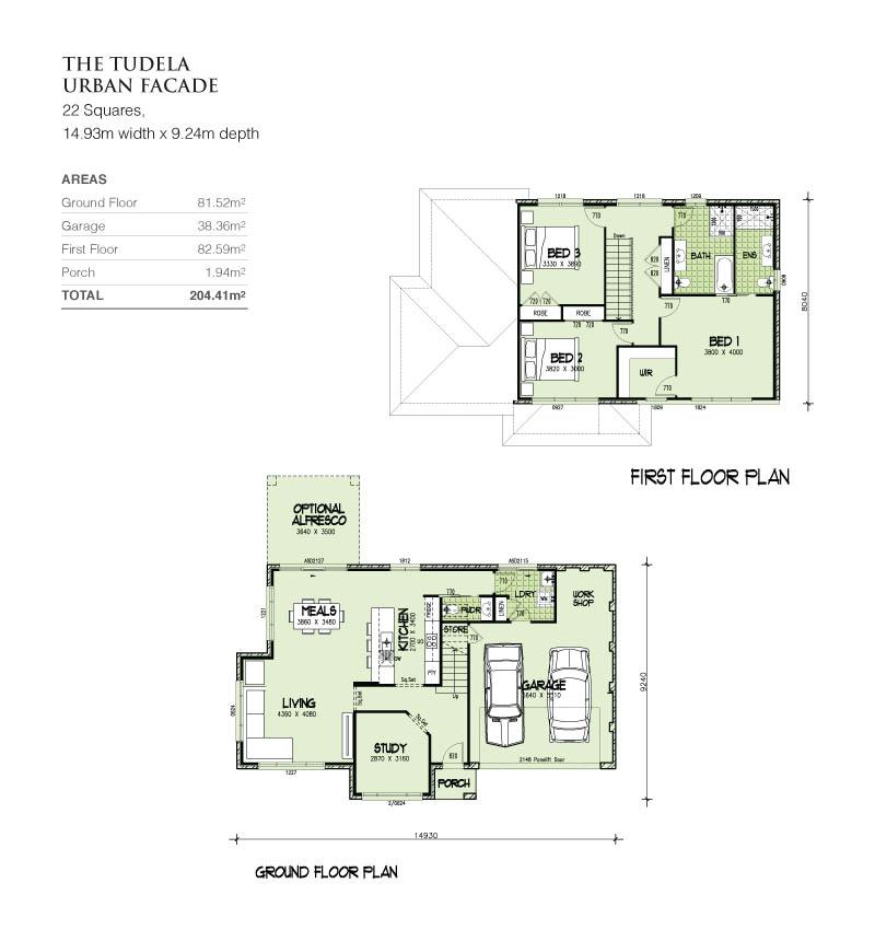 Tudela Double Storey 22 Squares Home Design Tullipan Homes