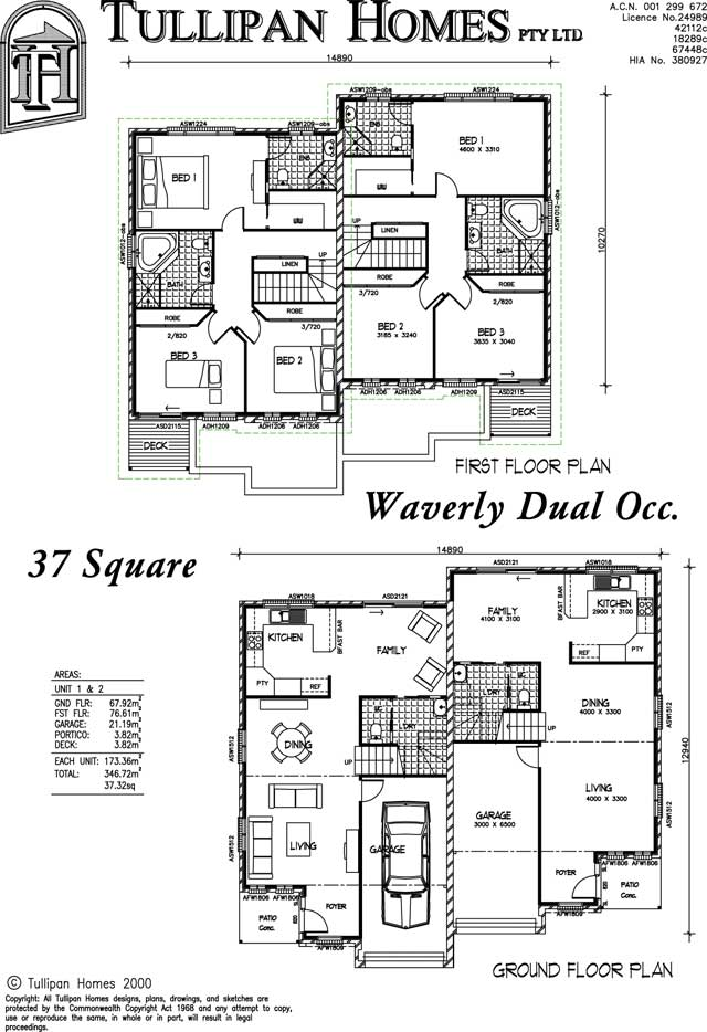 Waverly Dual Occupancy, Home Design, Tullipan Homes
