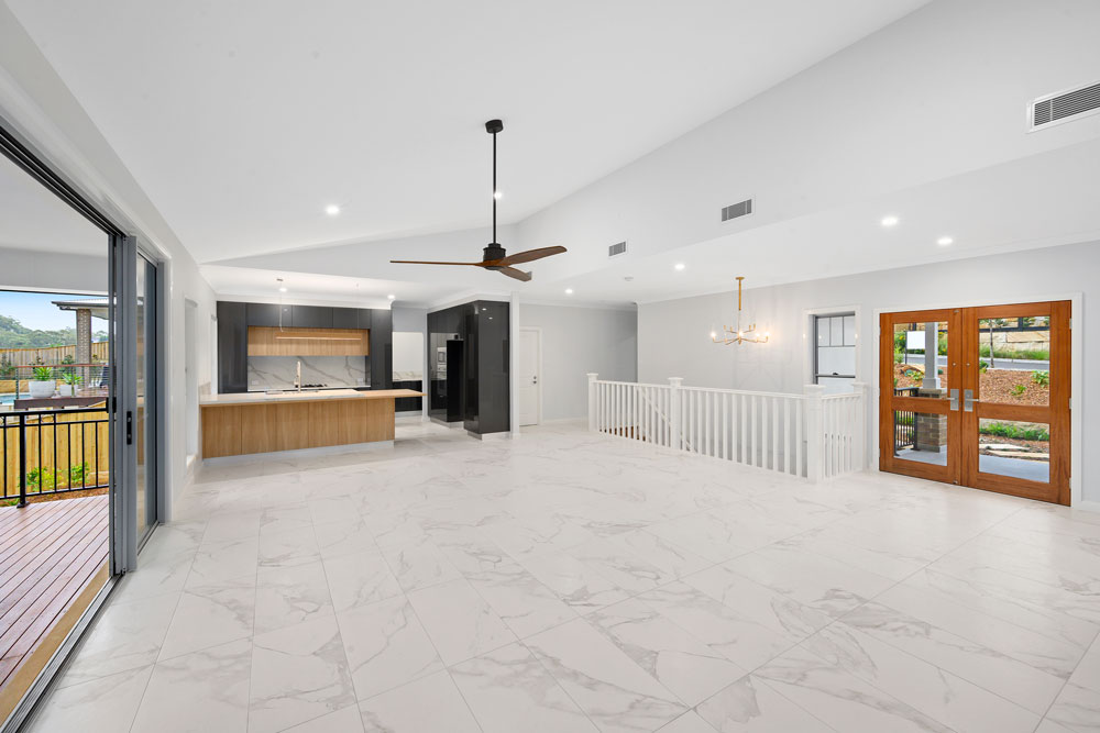 Raked Ceiling Open Plan Living & Dining Area