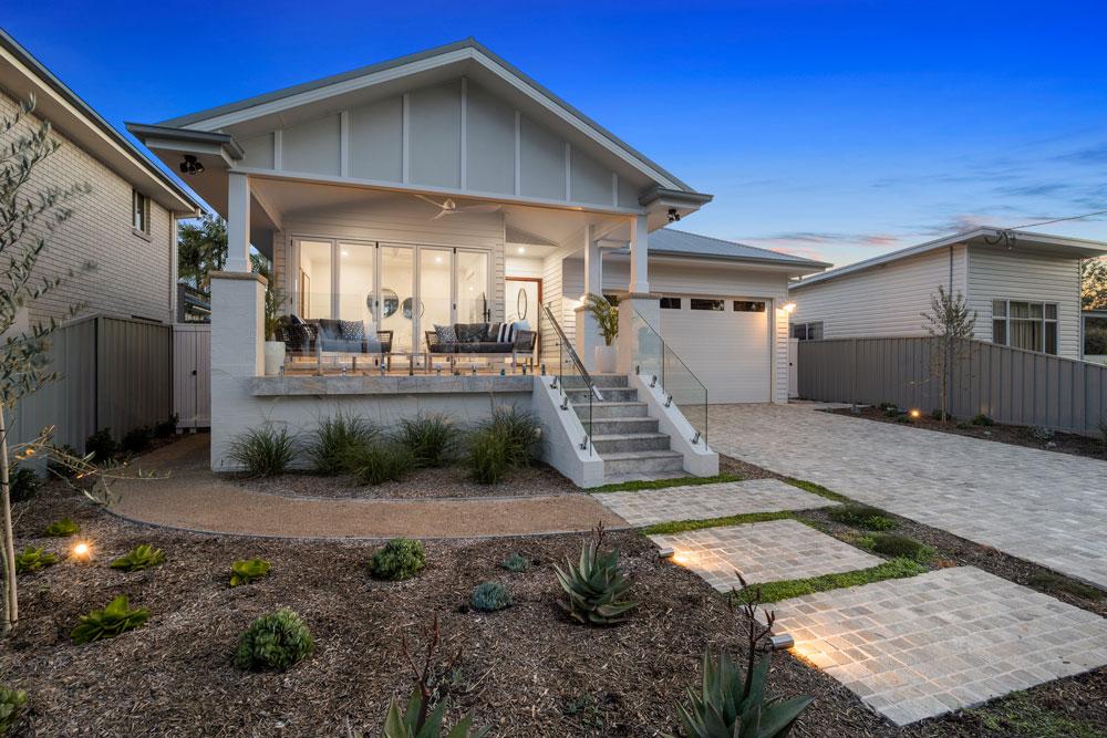 Custom Hamptons Facade Design constructed on the Central Coast