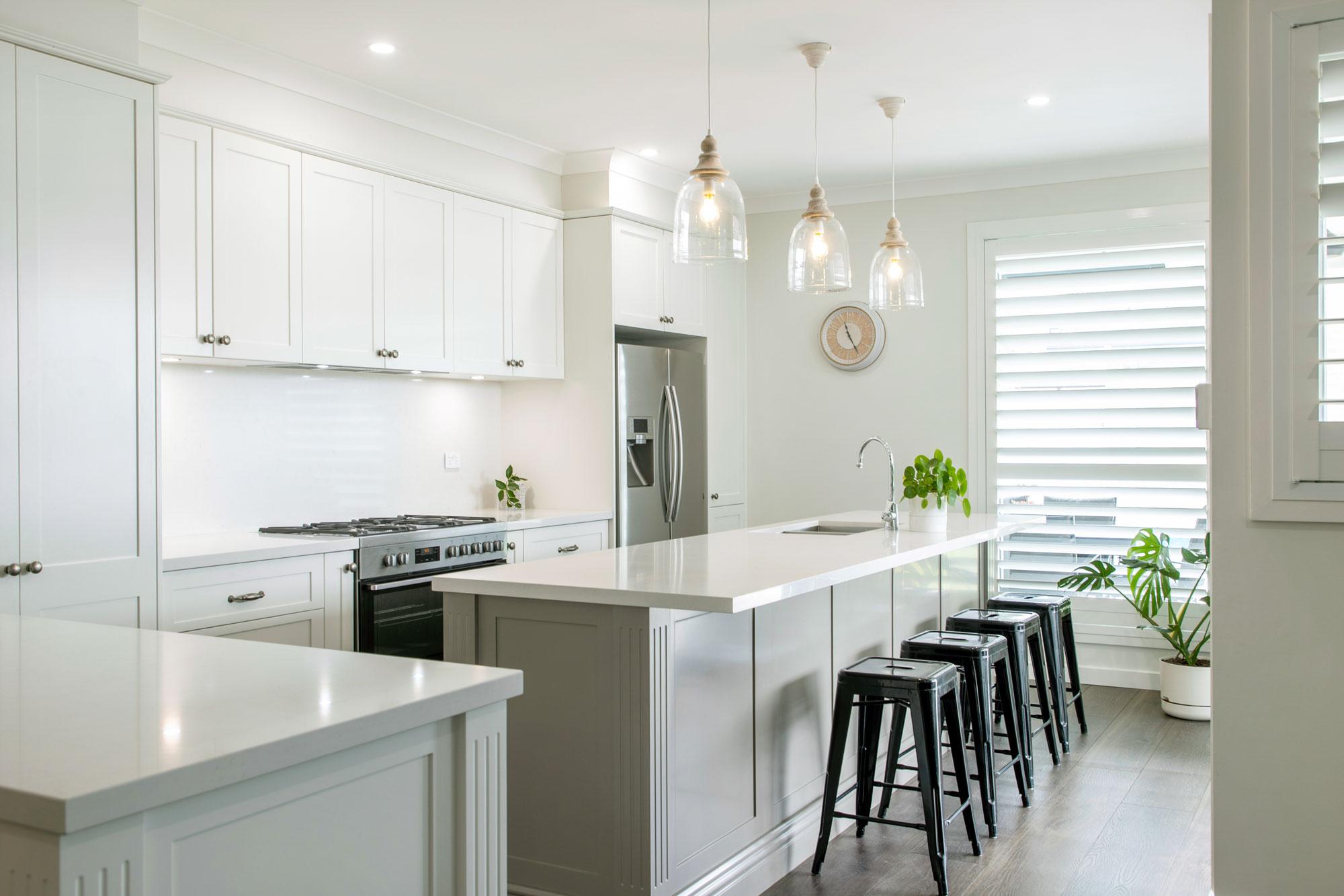 Hamptons Inspired Kitchen with Shaker Doors