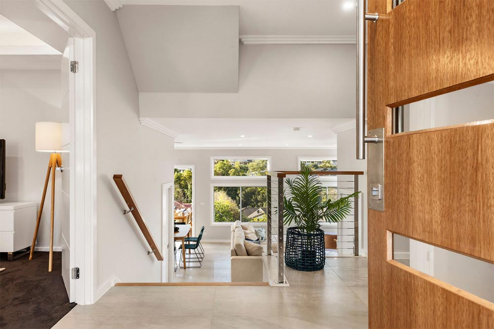 Terrigal Foyer with Lappato Tiles