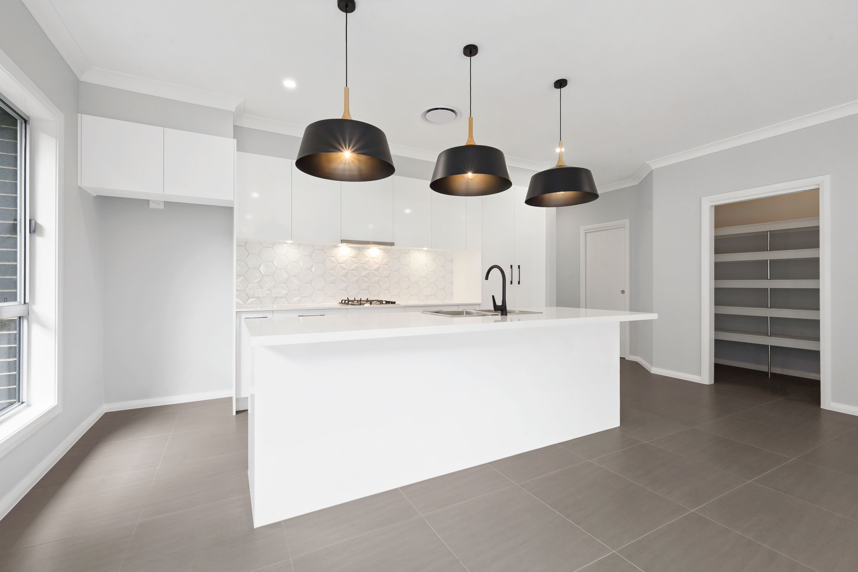 Modern Kitchen with Walk in Pantry