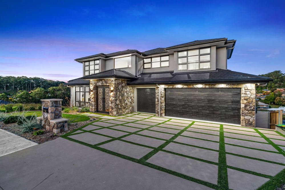 Custom Home Design Terrigal with Cultured Stone