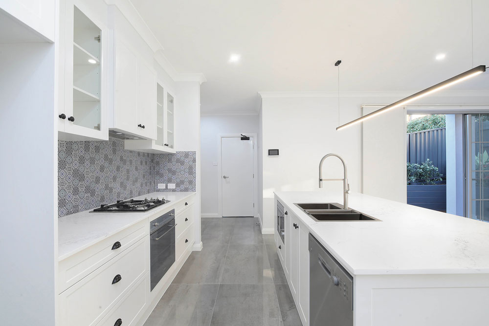 Hamptons Style Kitchen with Feature Pendant