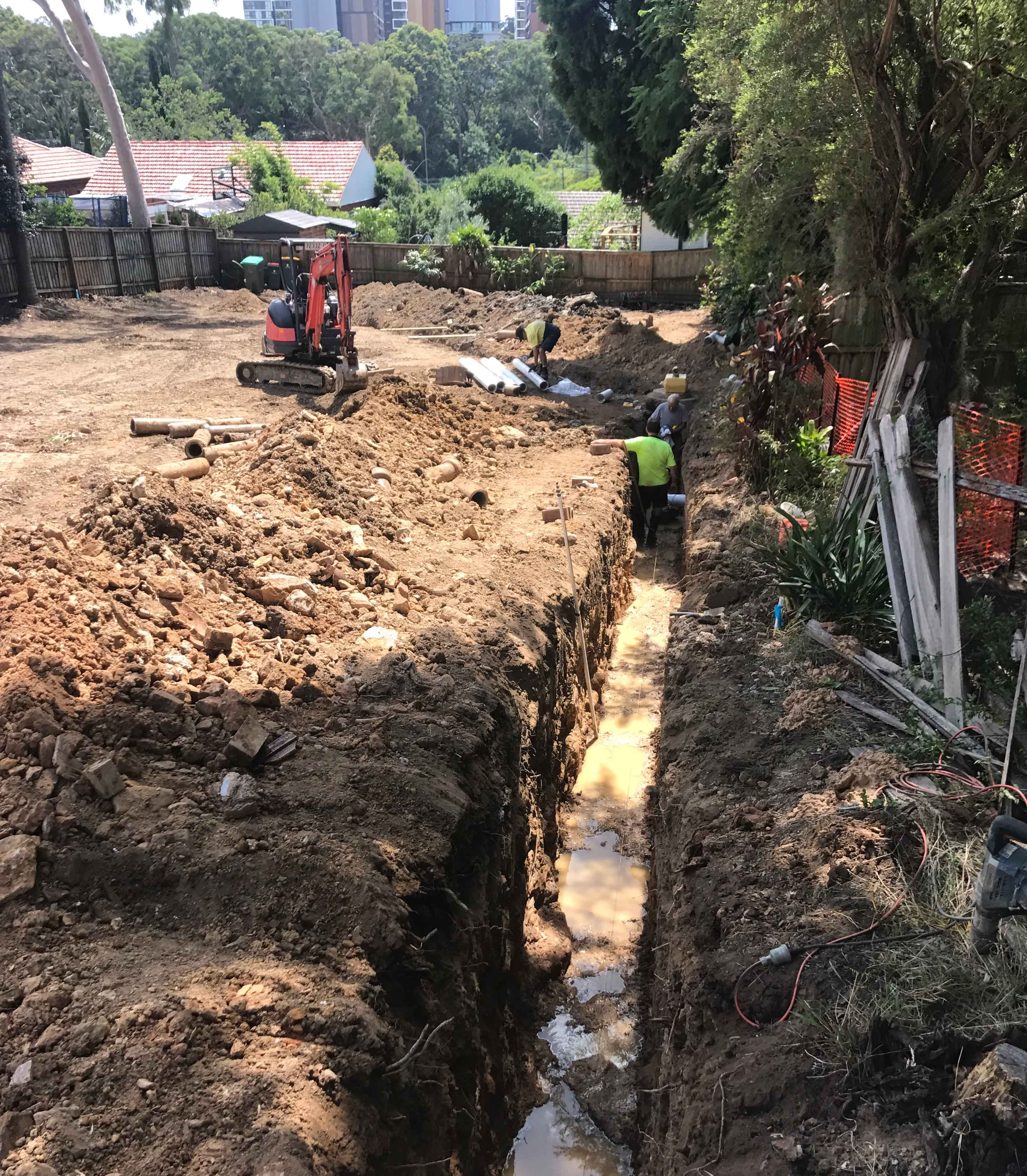 Building over mains sewer line
