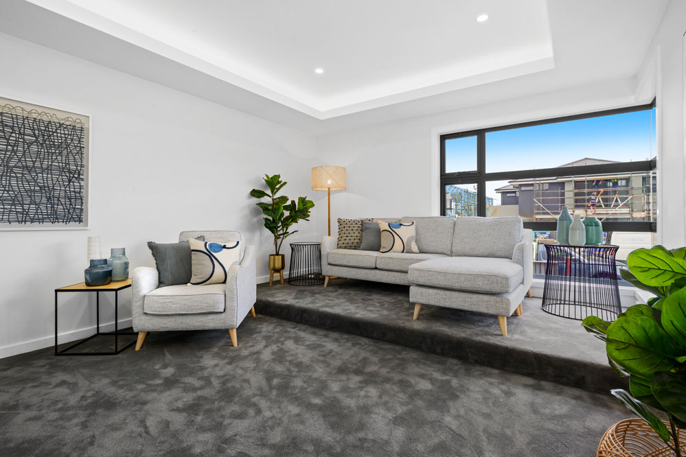 Home Theatre with Bulkhead Box Hill (Sydney) Display Home