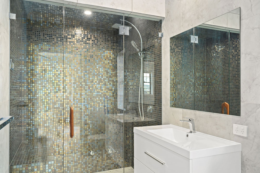 Steam Shower with Feature Tiling
