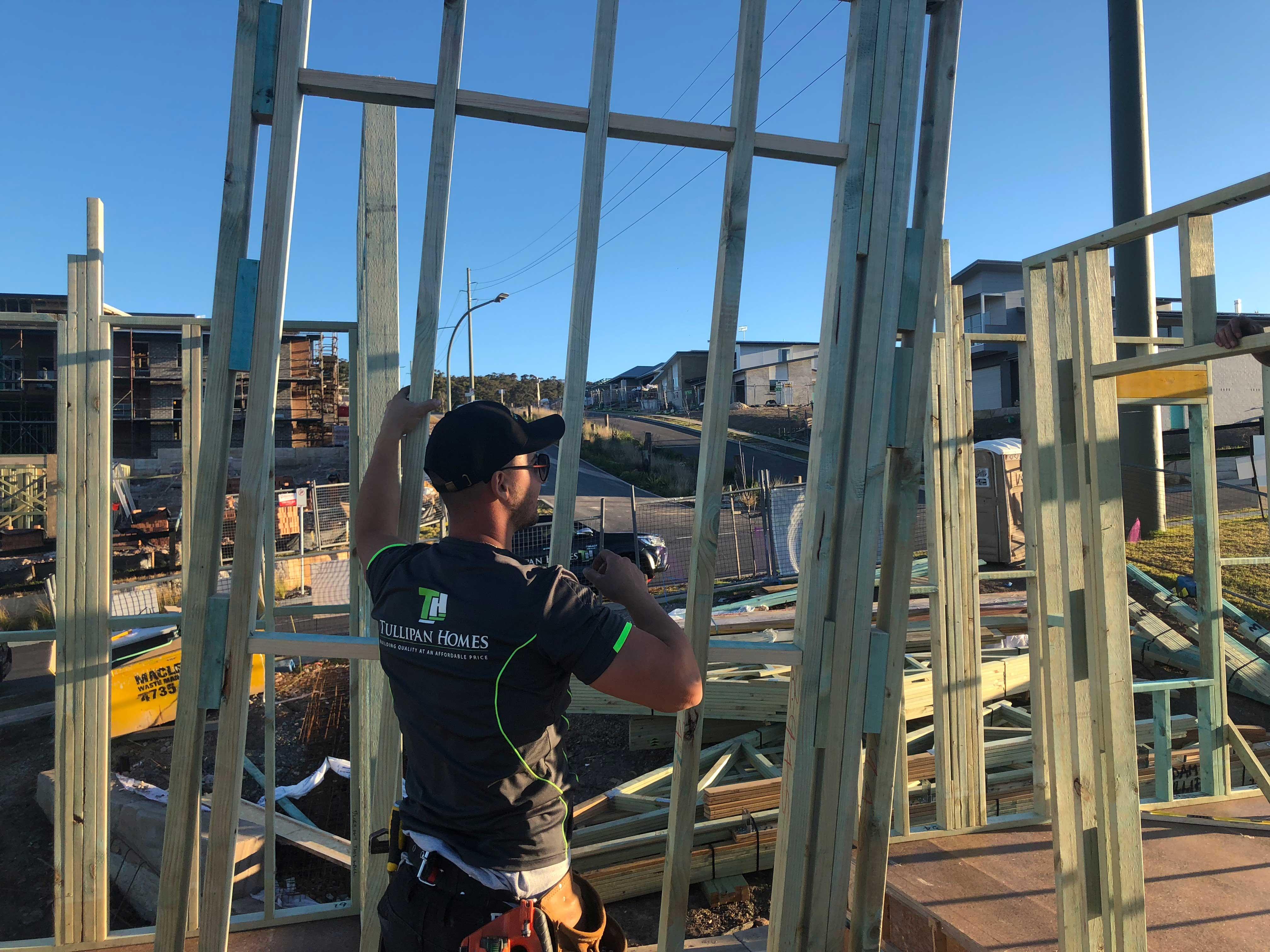 First floor wall frame construction - 1