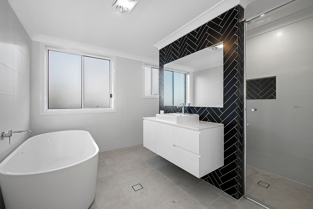 Herringbone Feature Wall Tile