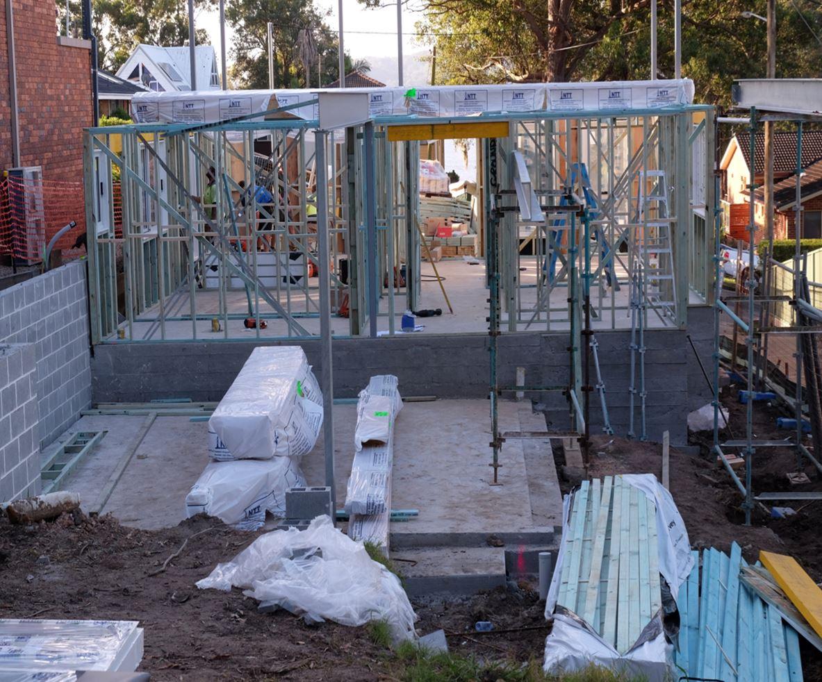 Split slab construction Saratoga