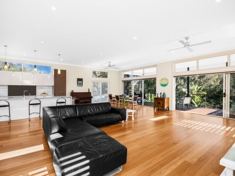 Open plan living areas
